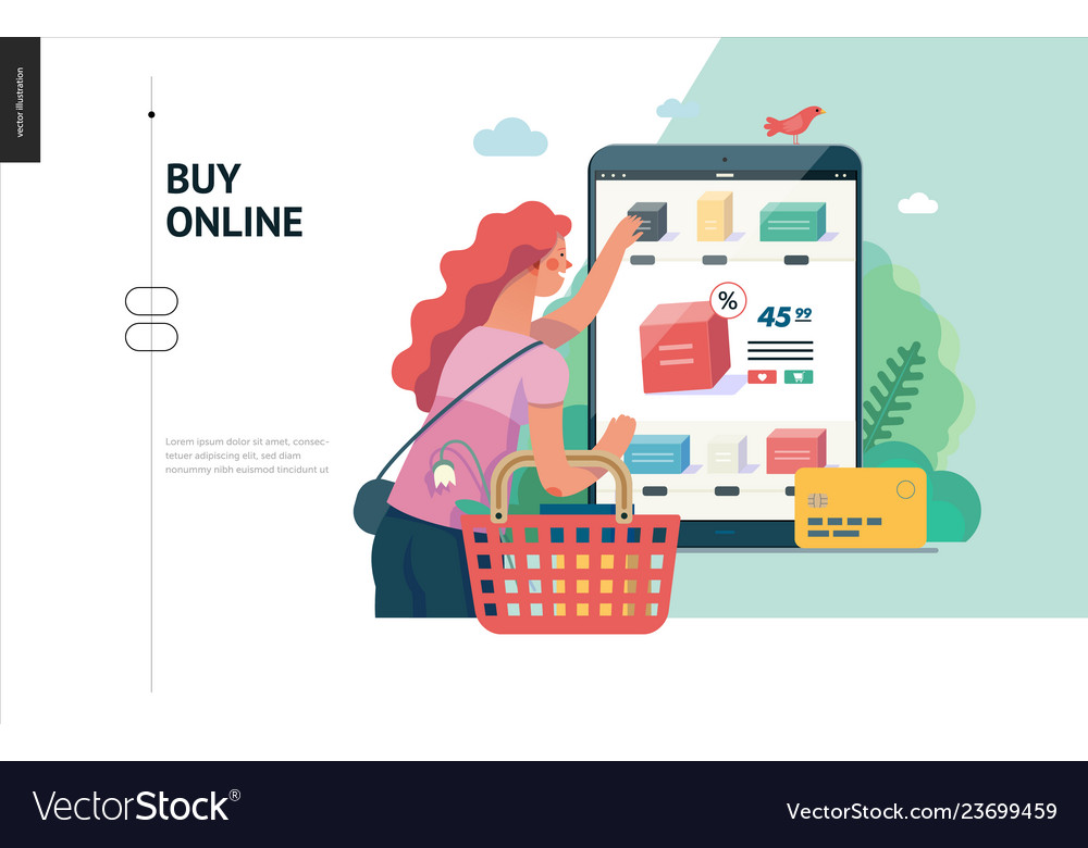 Business series - buy online shop web template