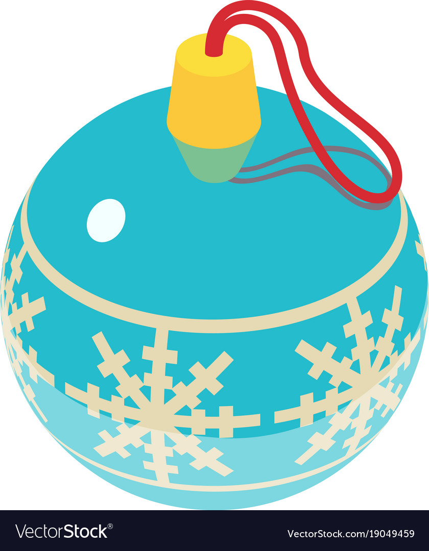 Christmas ball icon isometric 3d style