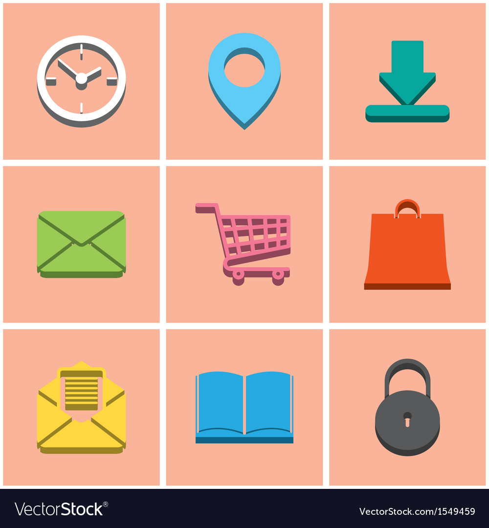 Colored icons set 2 vector image