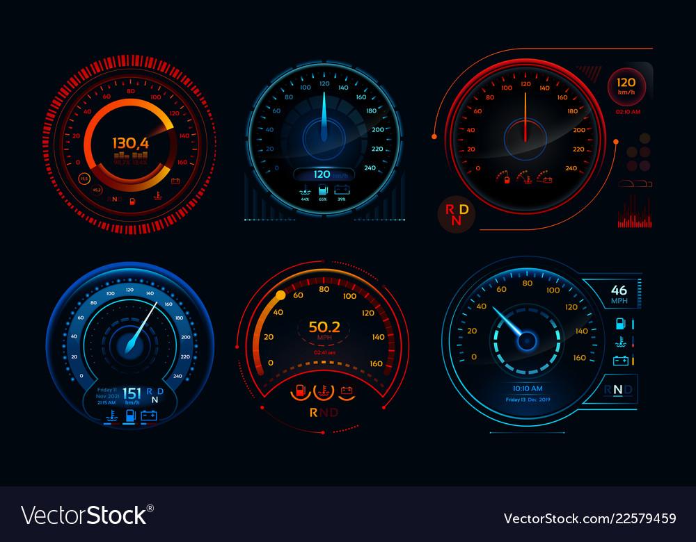 Futuristic car speedometer speed hud kilometer