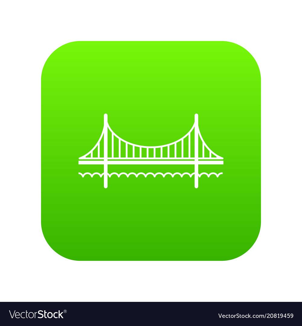 Golden gate bridge icon green