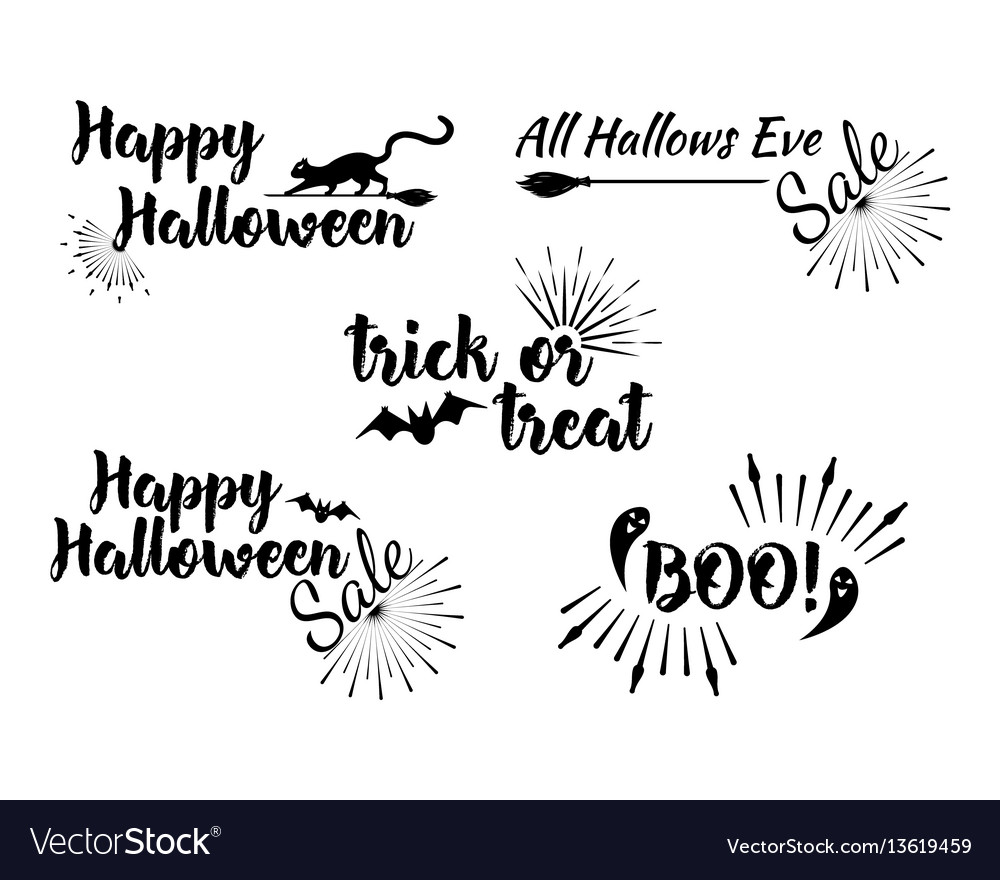 Halloween greeting card calligraphy