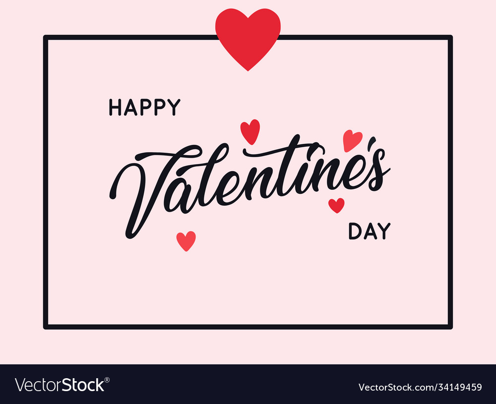 Happy valentines day greetings card