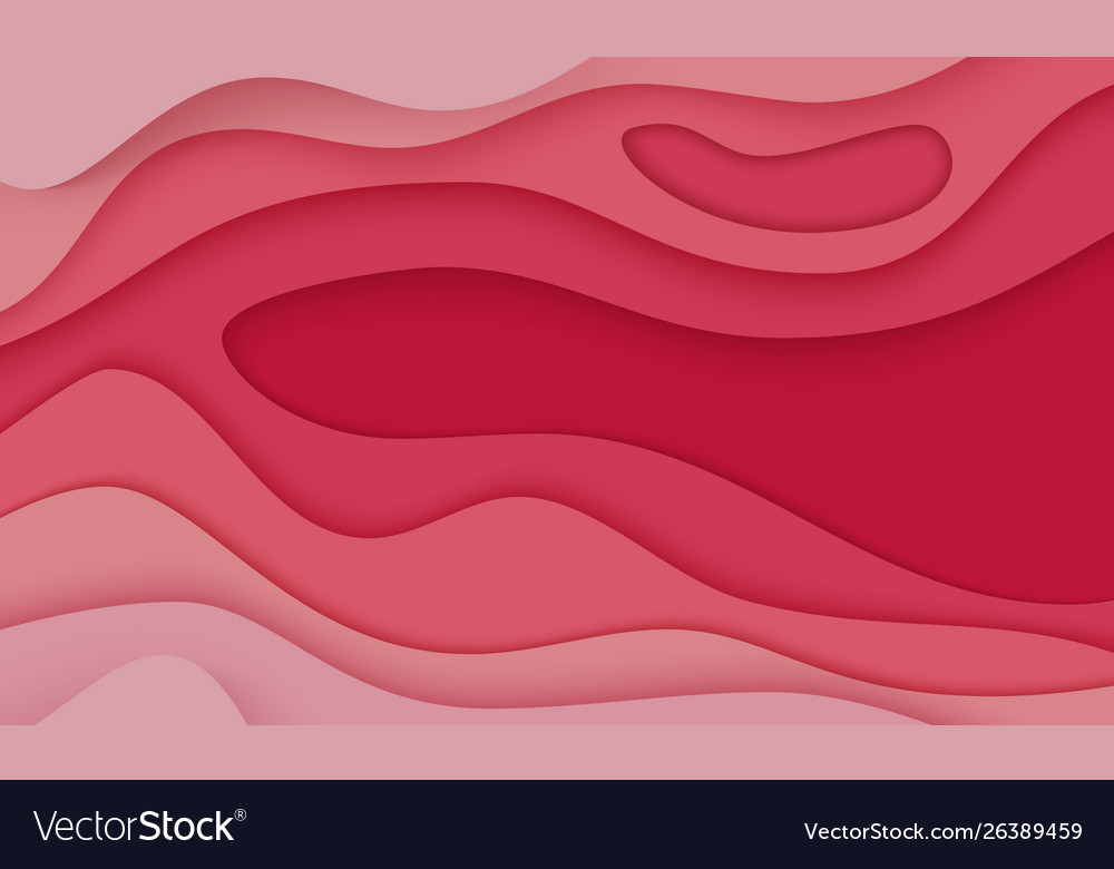 Horizontal paper cut 3d abstract background with