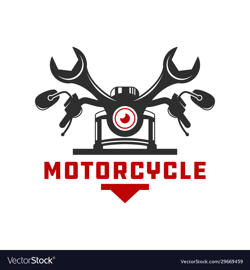 Motorcycle Repair Logo Design Royalty Free Vector Image