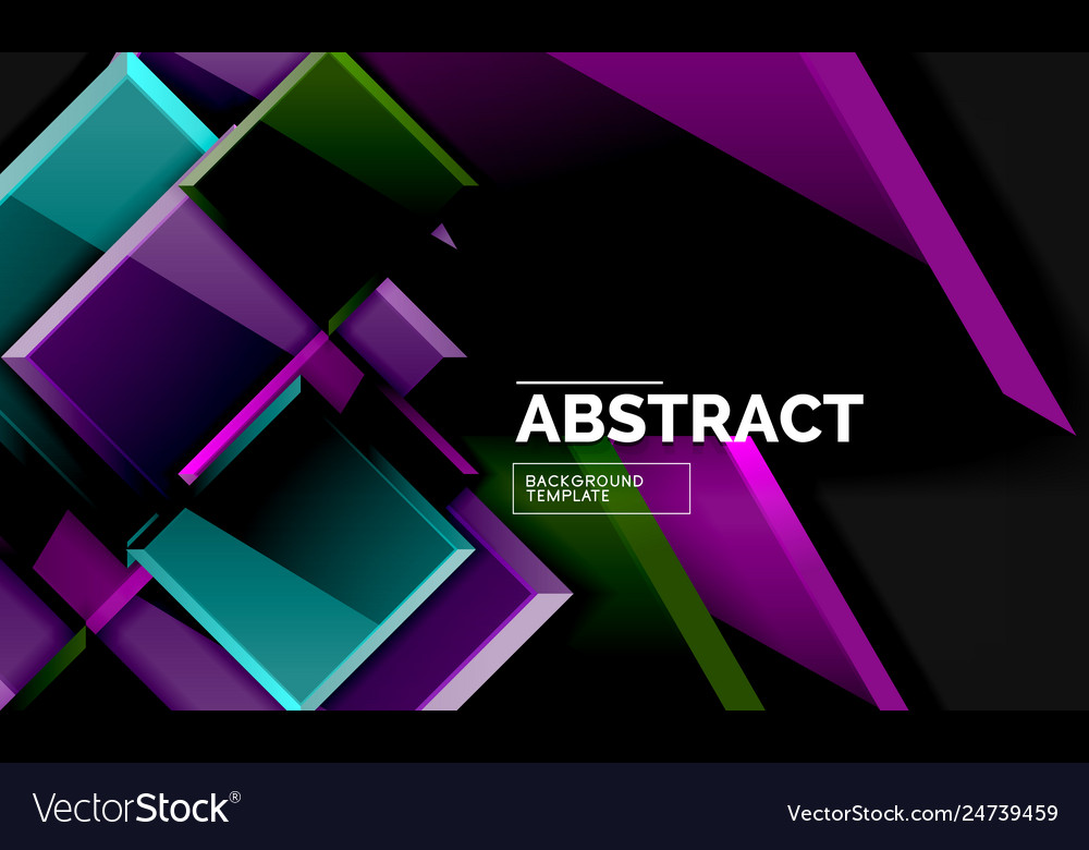 Squares and triangles geometrical background