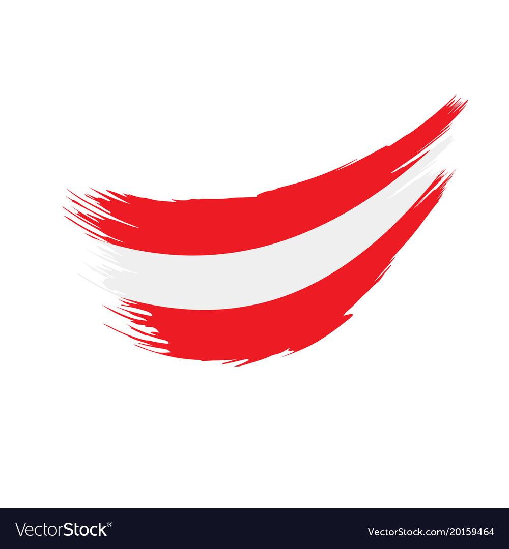 austria flag royalty free vector image vectorstock