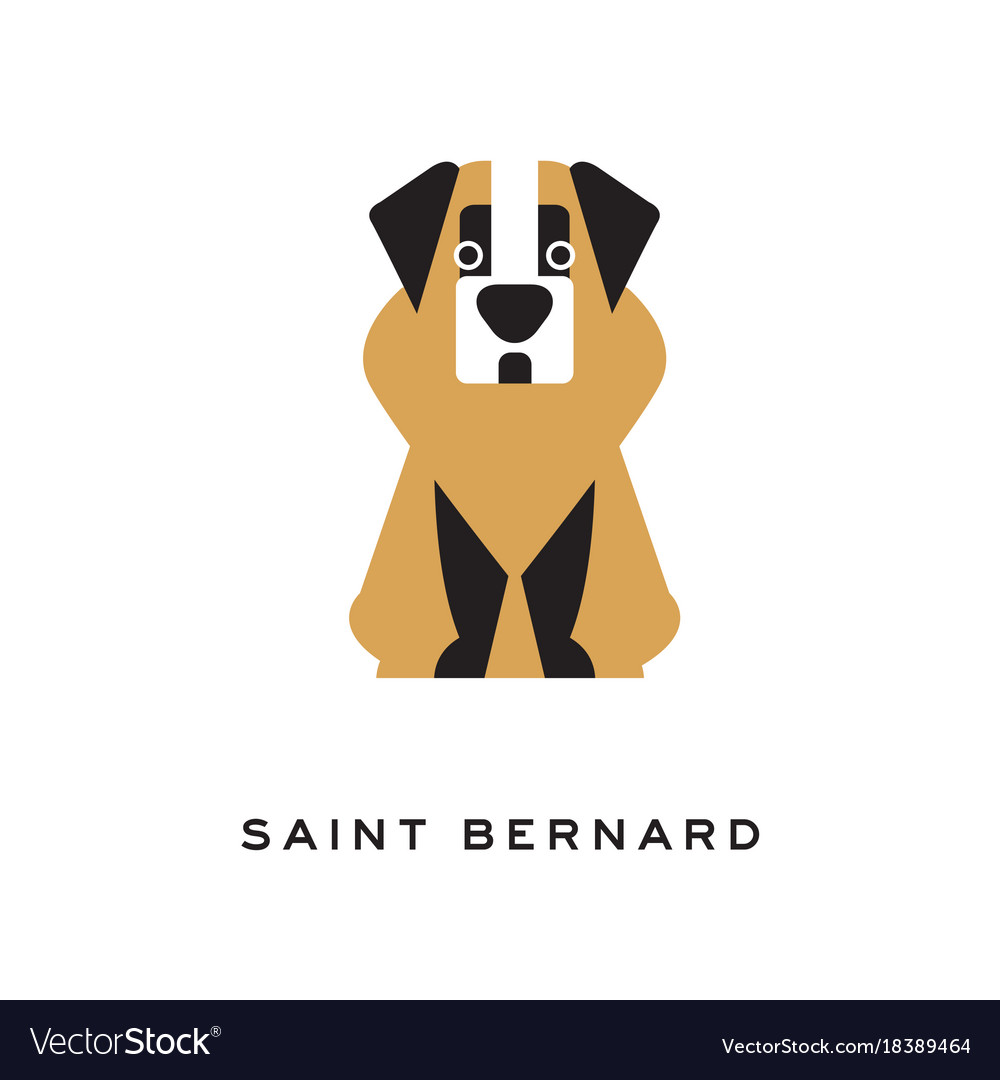 Cartoon saint bernard dog character in ...