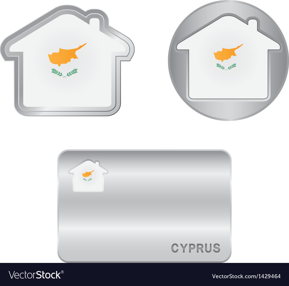 Home icon on the Cyprus flag