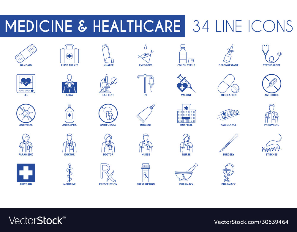 Medicine and healthcare icon pack