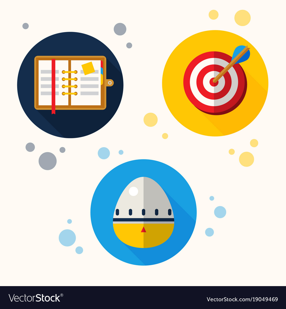 Abstract self management icons vector image