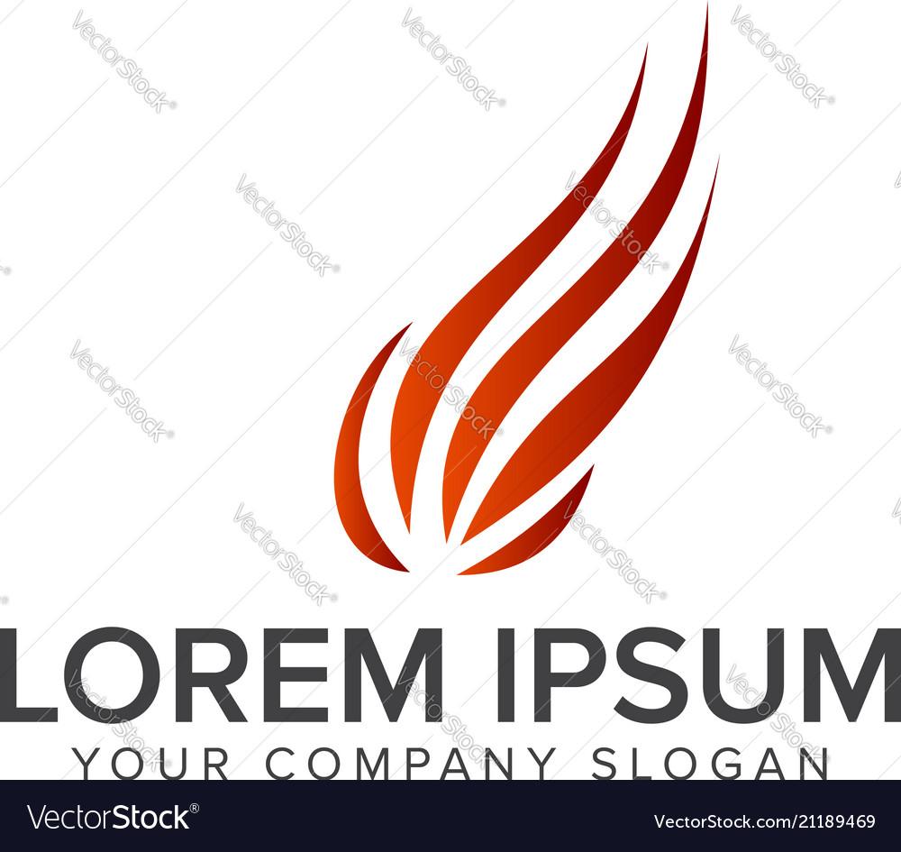 Ball flame logo design concept template