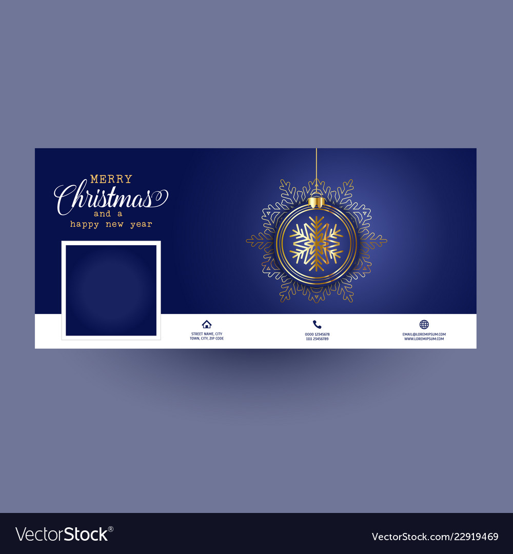 Decorative social media cover with christmas