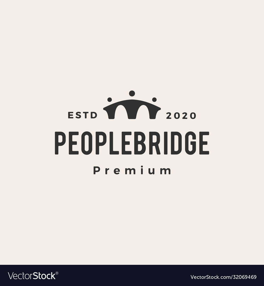 People bridge hipster vintage logo icon