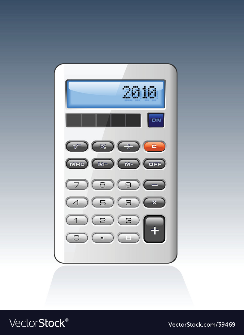 Silver calculator vector image