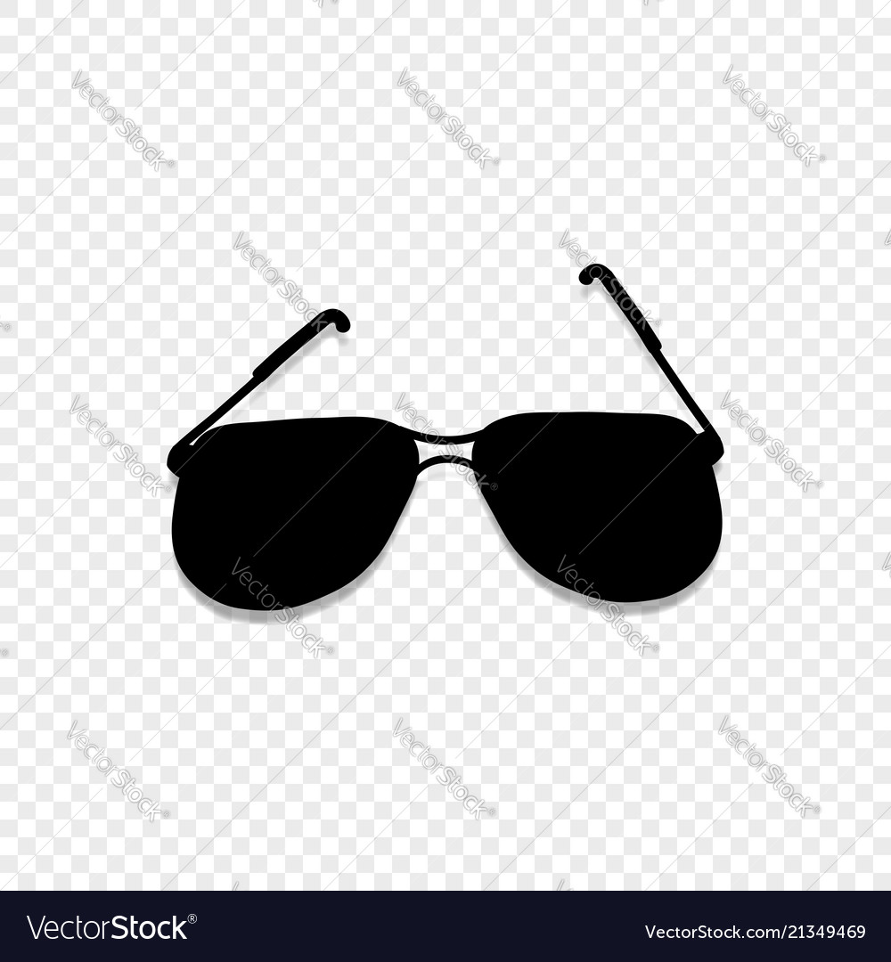 Sunglasses icon isolated on transparent background