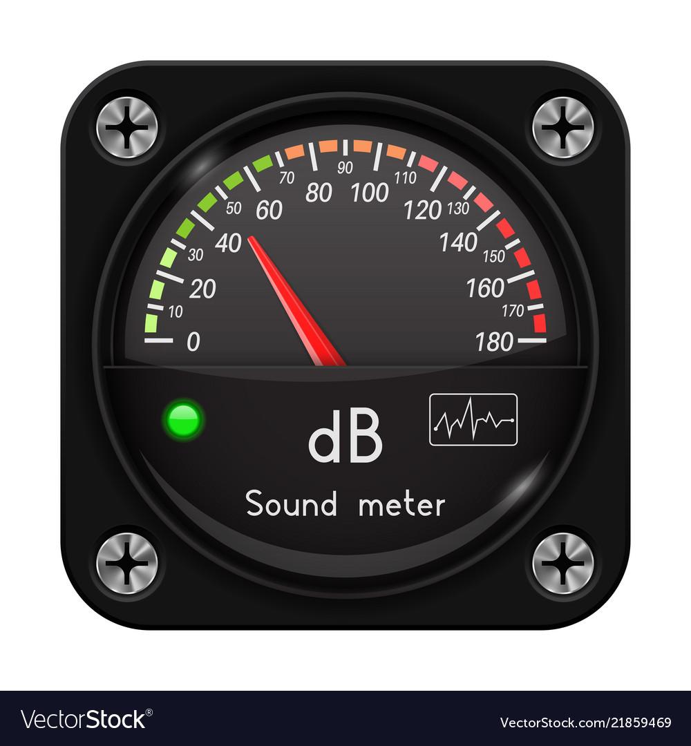 Volume unit meter sound audio equipment