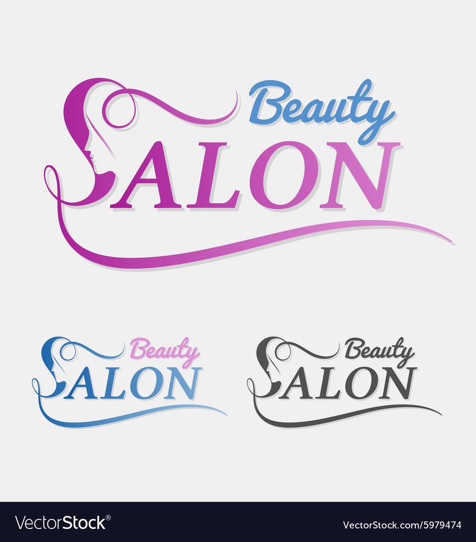 Beauty salon logo design with female face in negat