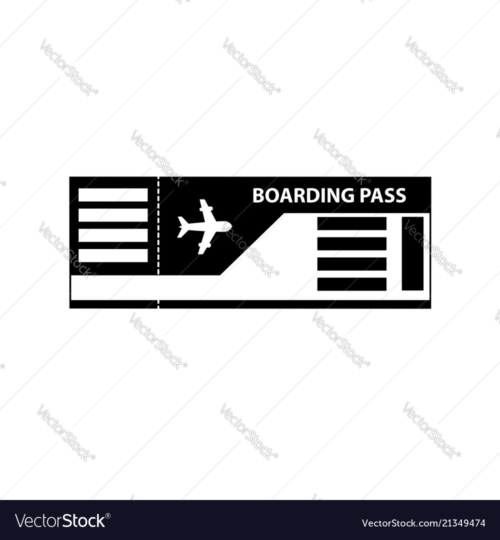 Boarding pass ticket icon isolated on white