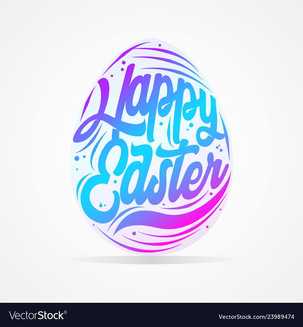 Easter egg typography