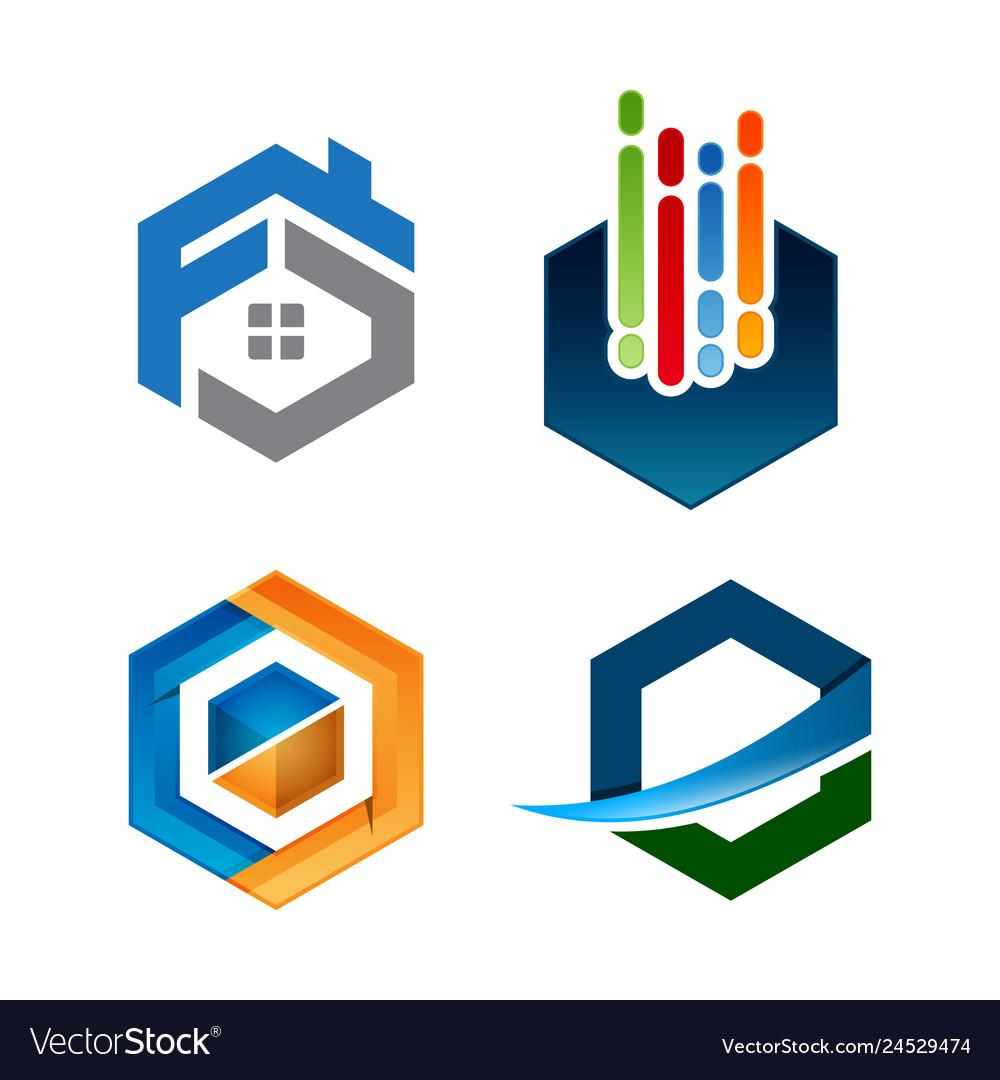 Hexagon abstract logo