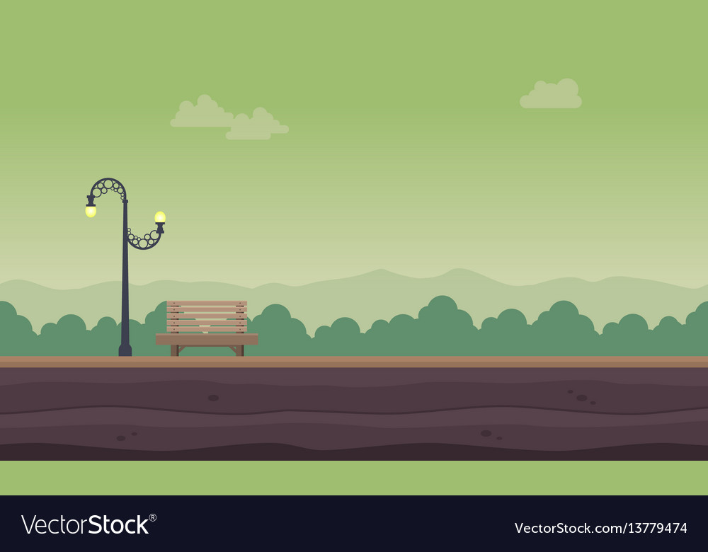 Landscape of garden for background game vector image