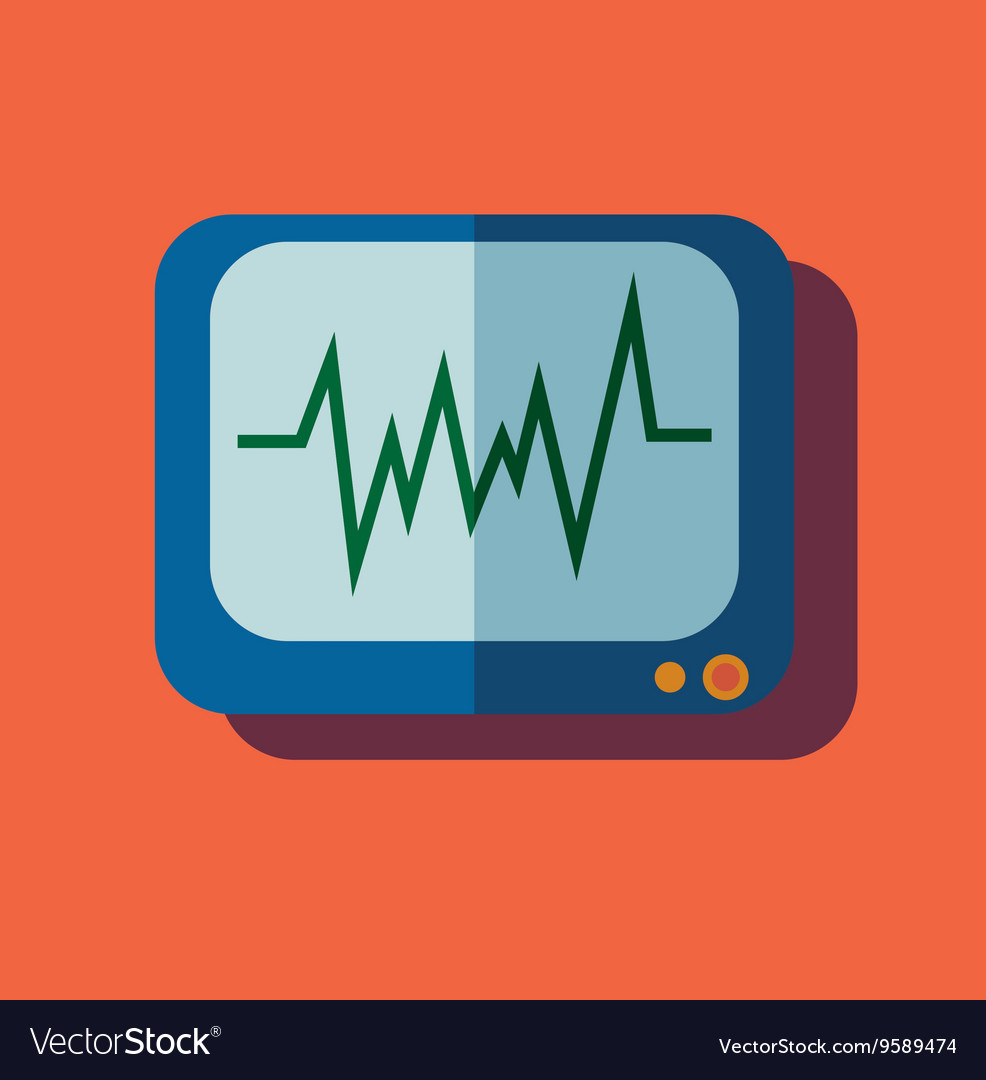 Pulse monitoring flat icon