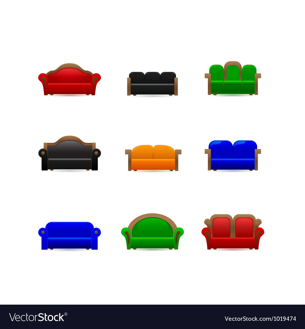 Set sofa icons