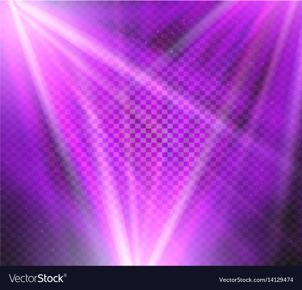 Shining purple color light effects glowing