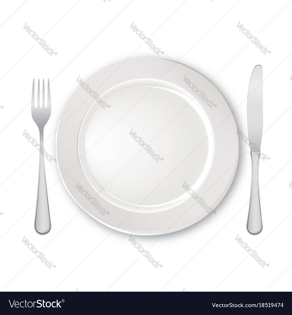 sc 1 st  VectorStock & Table setting set fork knife spoon plate cutlery Vector Image