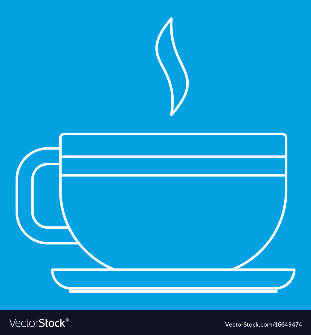 Tea cup icon outline style