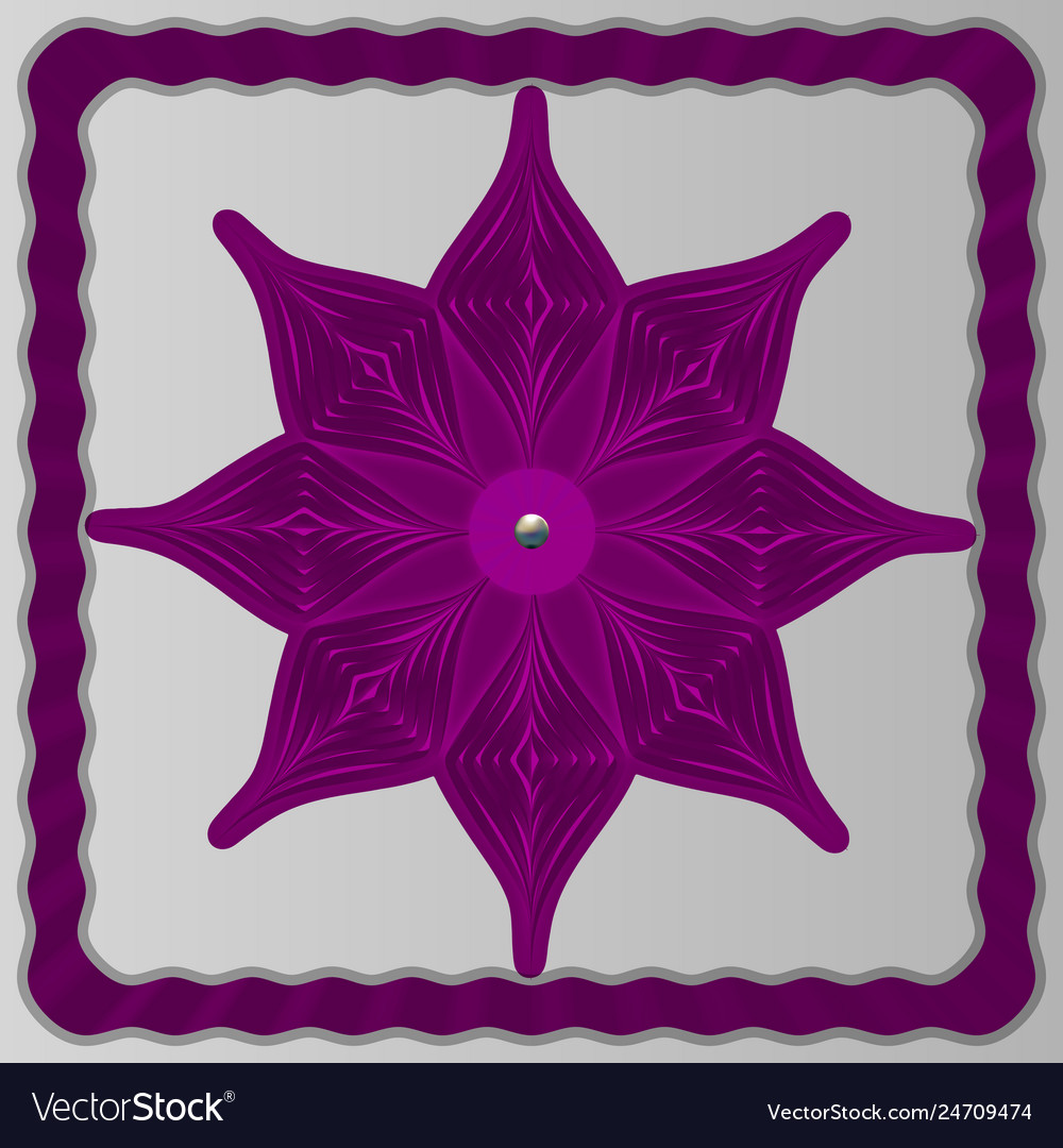 Ultra-violet snowflake from paper on a light