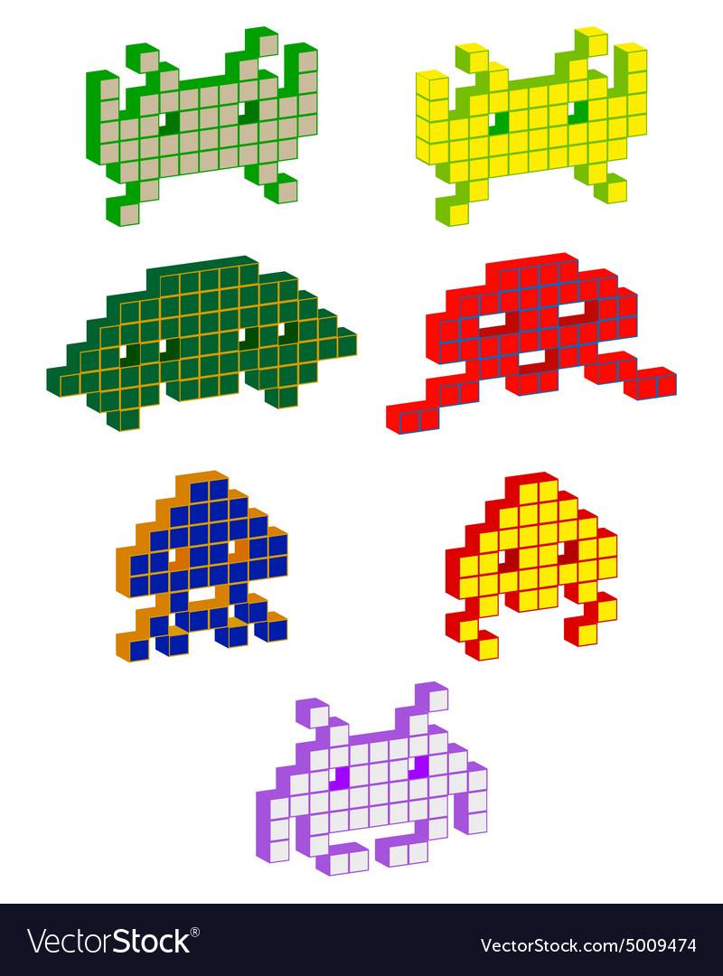 Volumetric pixels vector image
