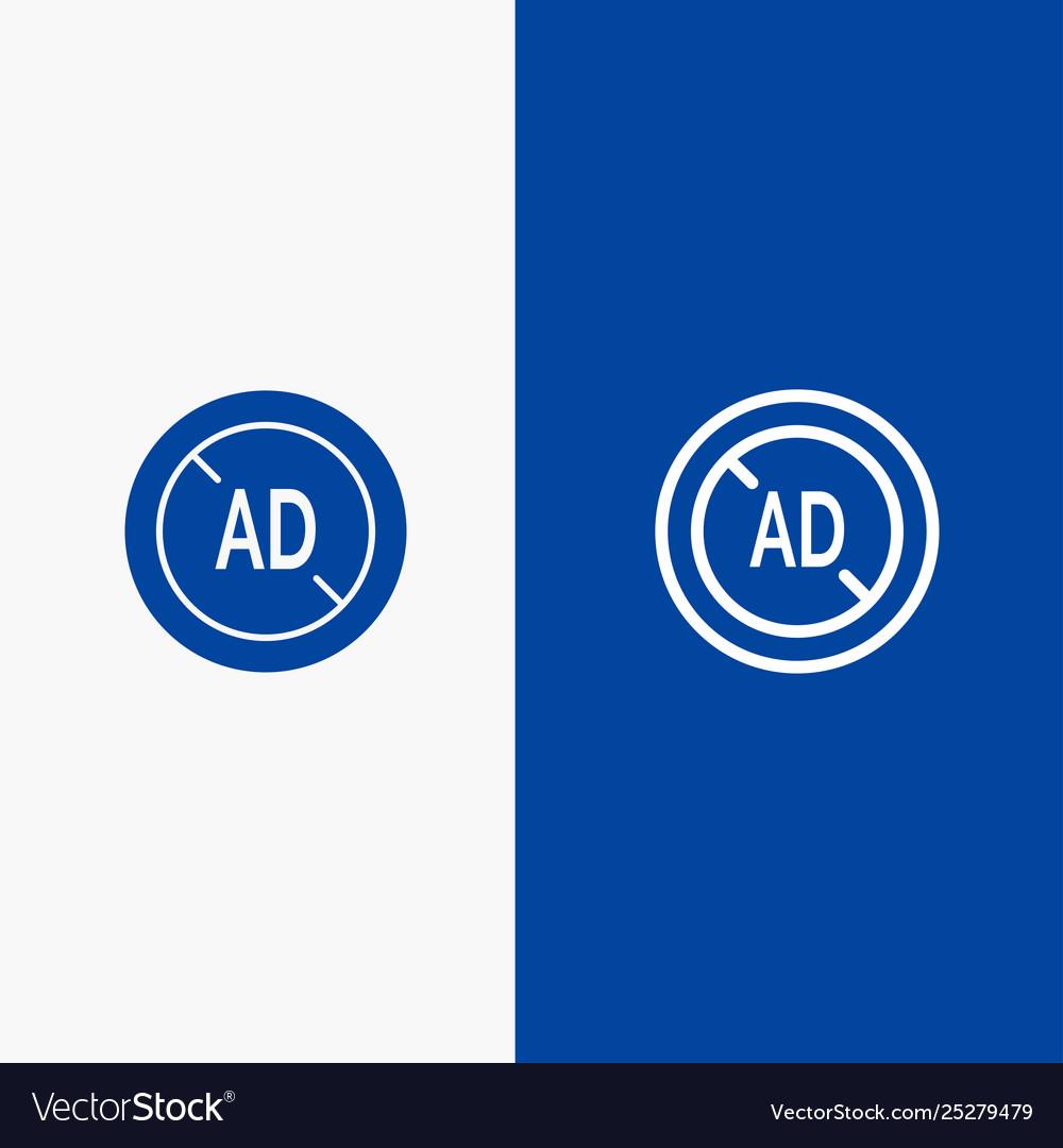 Ad blocker ad blocker digital line and glyph