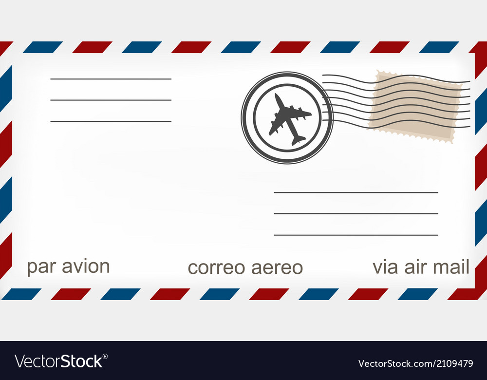 airmail envelope royalty free vector image vectorstock