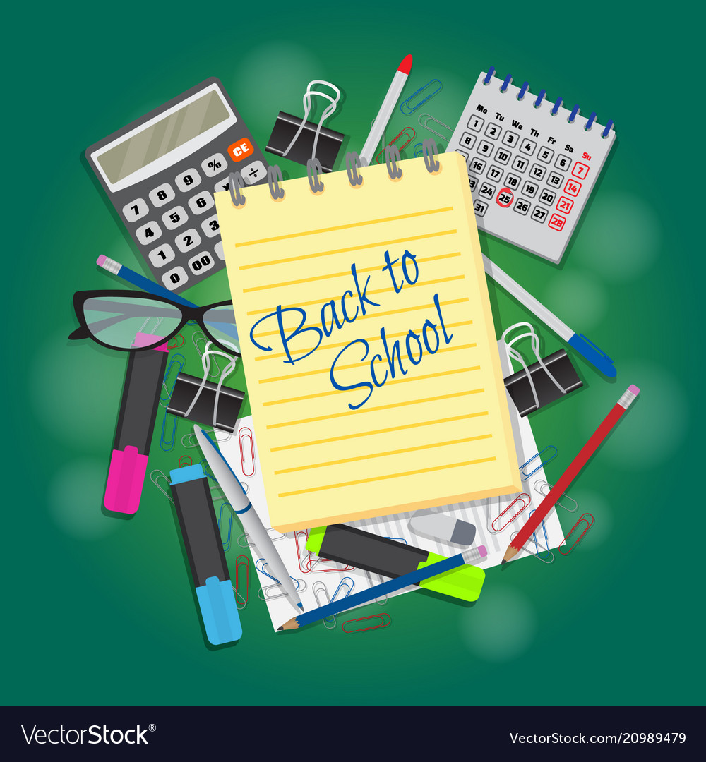 Back to school banner deisgn template to school vector image