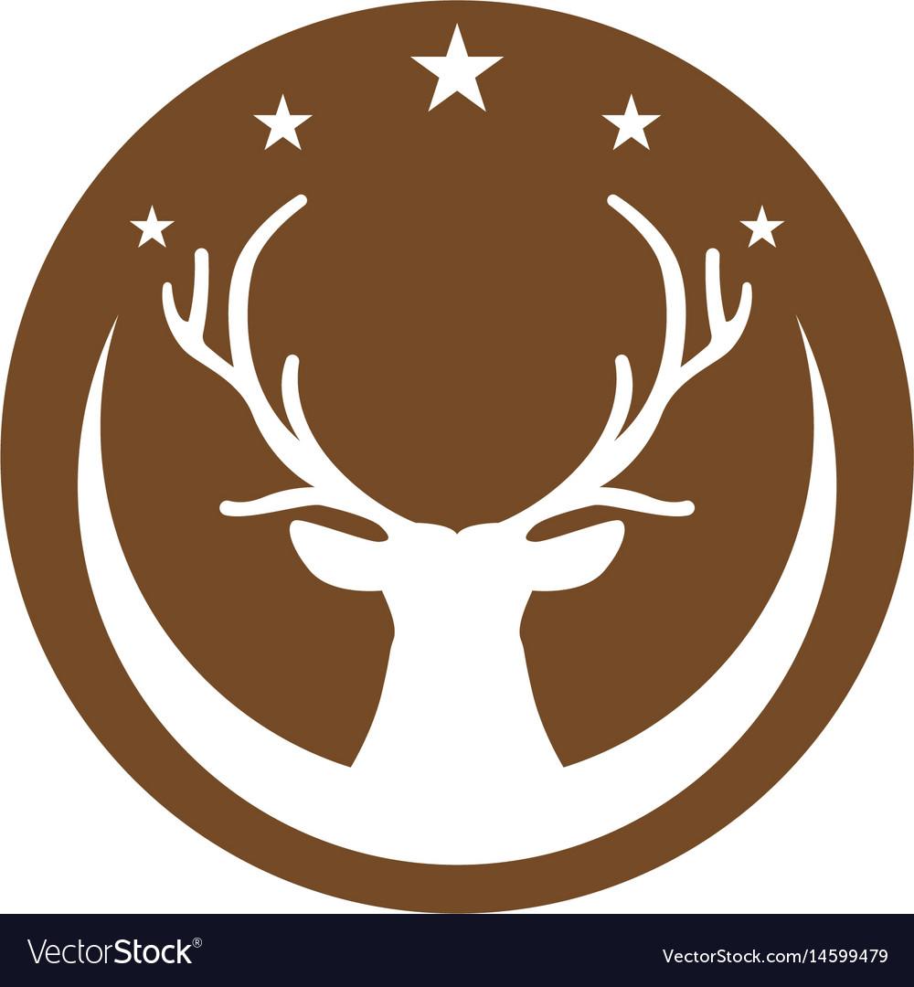 Deer logo template