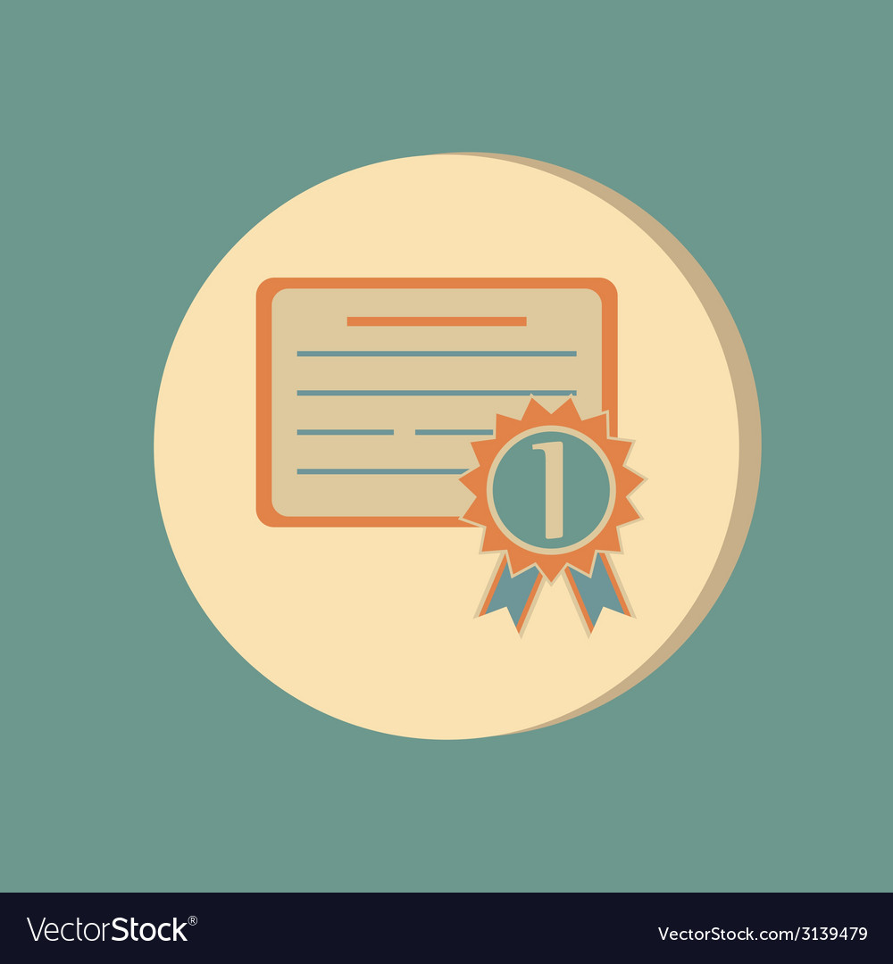 Diploma for the first place Education sign symbol vector image