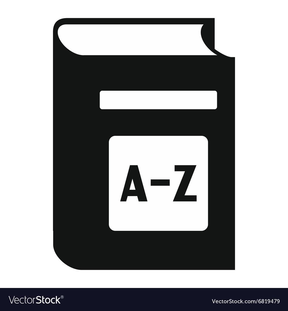 English dictionary simple icon