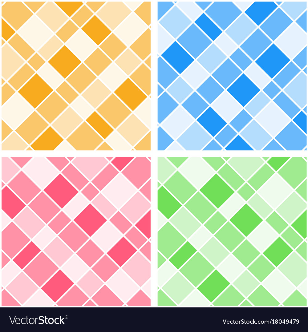 Four background templates with colorful grids Vector Image