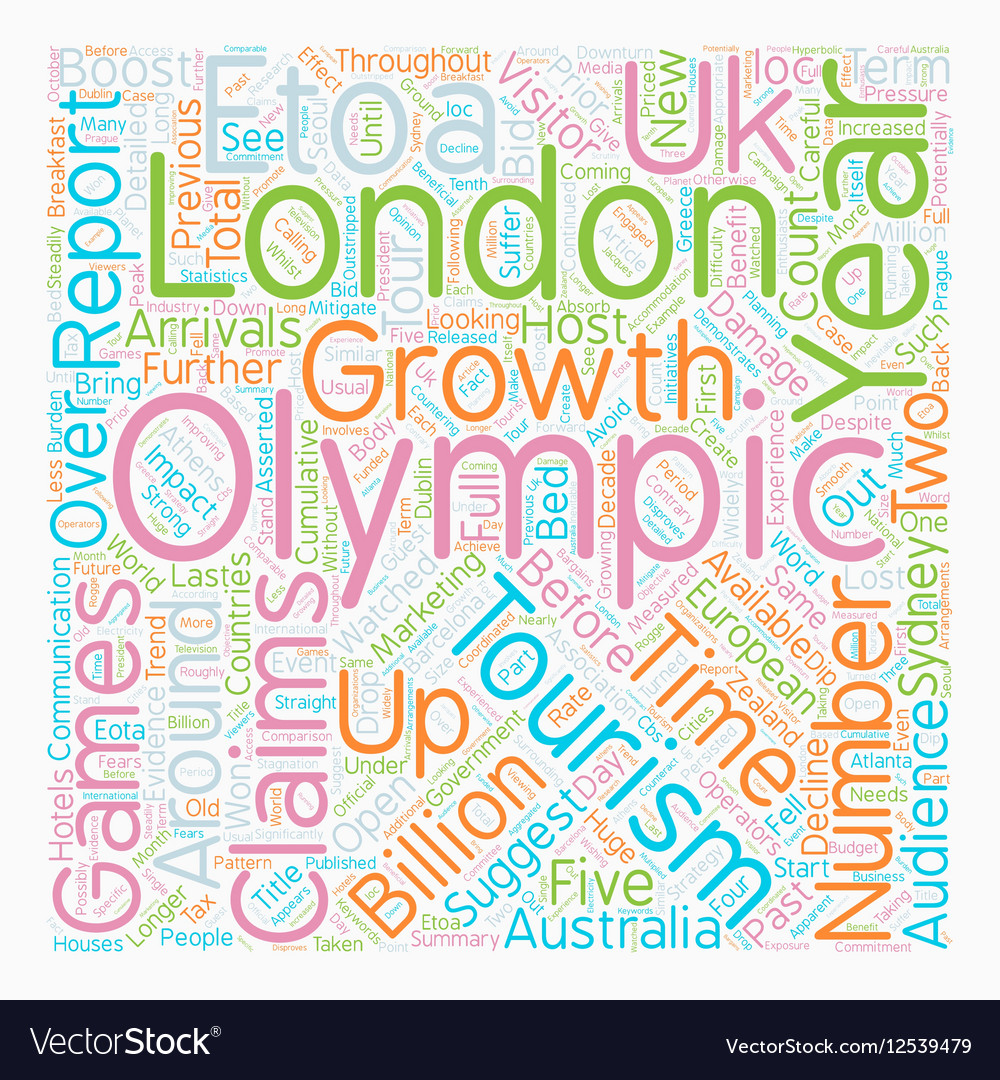 Olympics to Damage UK Tourism text background