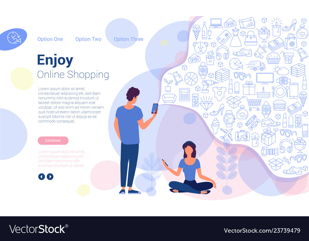 Online shopping web page design templates