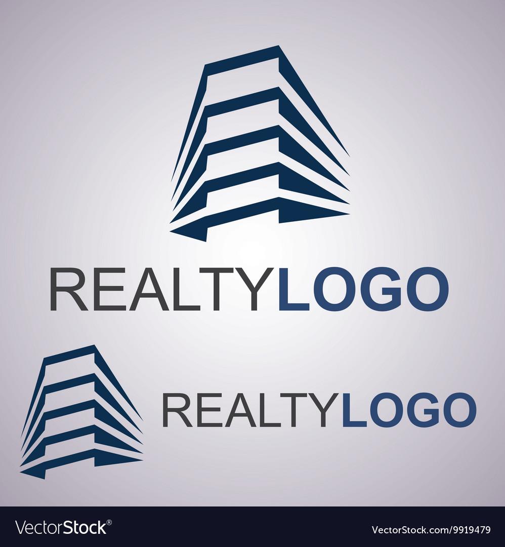 Realty logo 7 2 vector image