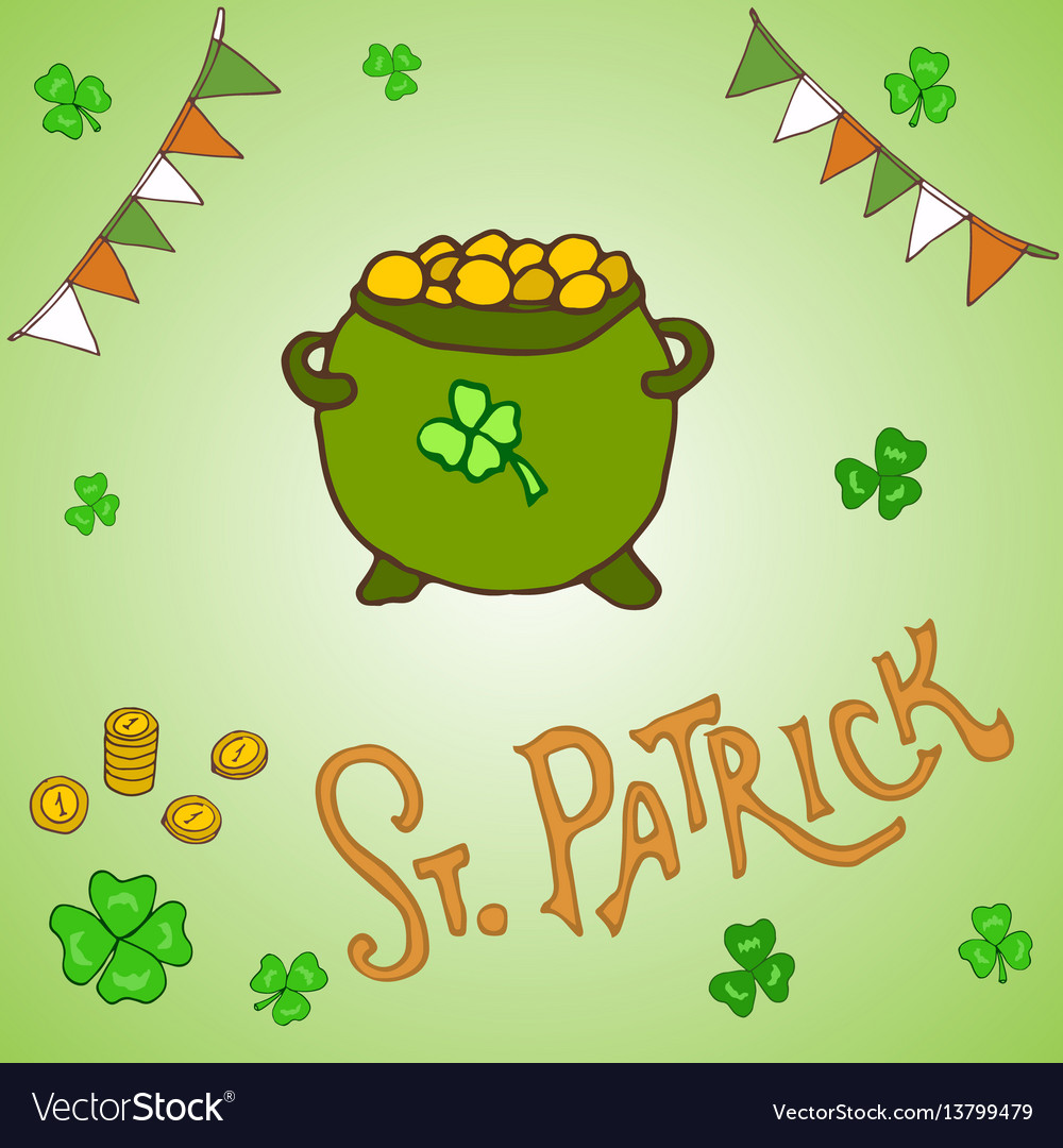 St patrick s day holiday greeting card