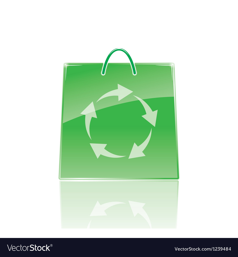 Bag for shopping vector image