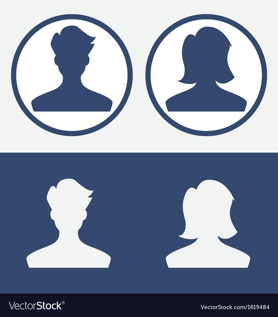 Default profile picture male female vector image