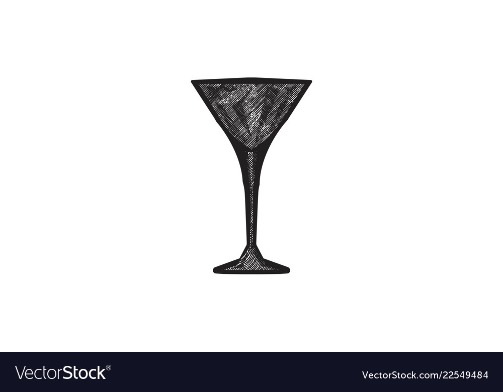 Glass cocktail logo designs inspiration isolated