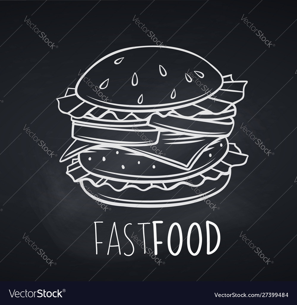 Hamburger icon blackboard style