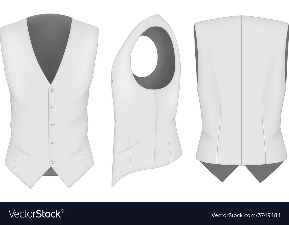 Men waistcoat for business men vector image