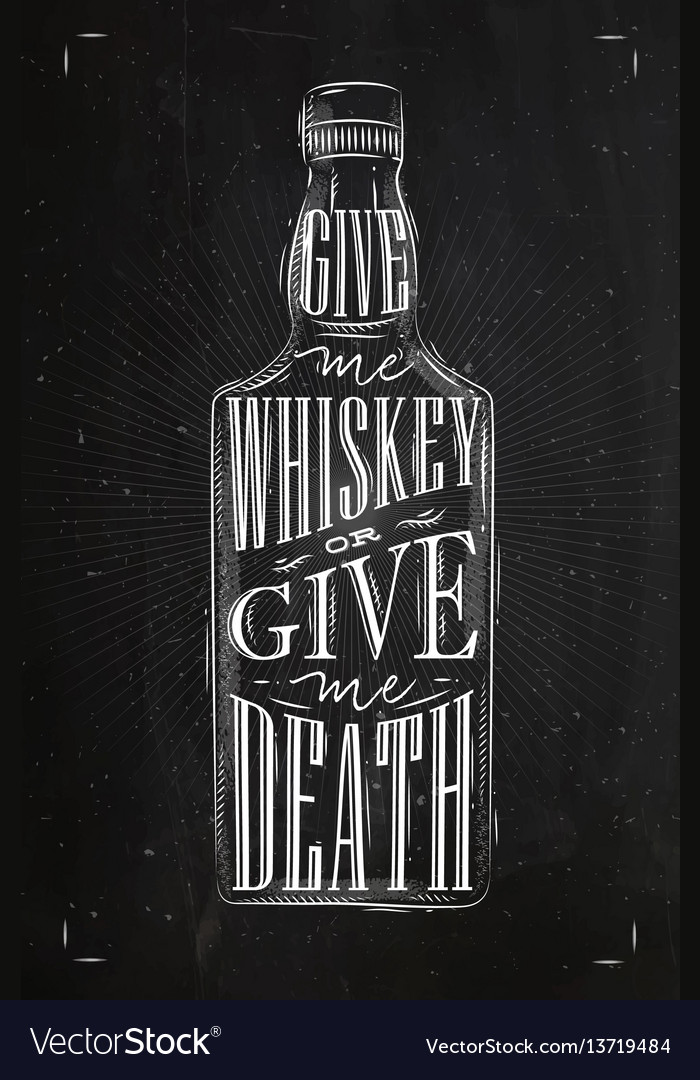 Poster give me whiskey vector image